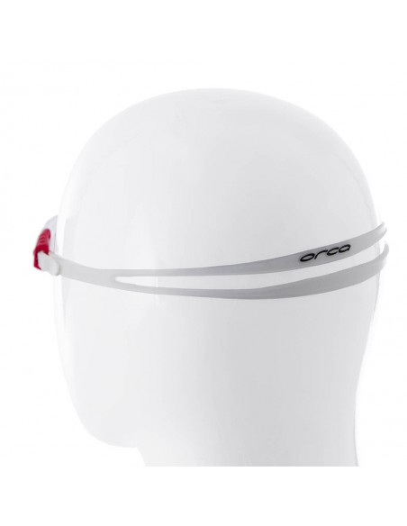 Orca Junior Goggles - Clear/Red Strap with Clear Lens