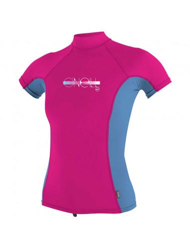 O'Neill Girls Short Sleeve UV Turtleneck Rash Vest